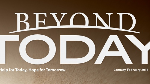 The masthead for the Beyond Today magazine.