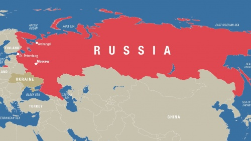 Russia is huge, spanning 11 time zones and thus stretching halfway around the world.
