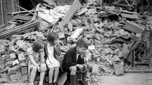 Children affected by World War II in Great Britain.