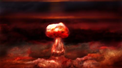 An atomic blast.