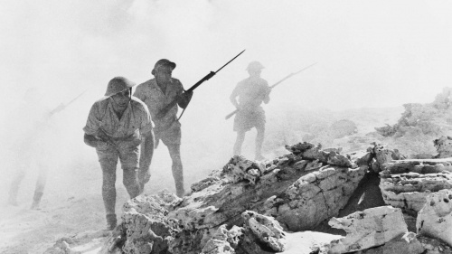 Australian troops in action in North Africa during the Second Battle of El Alamein, 1942