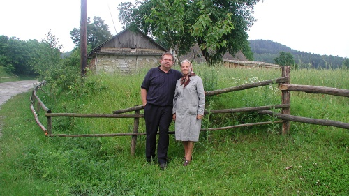 Victor Kubik with his aunt Vera Kubik