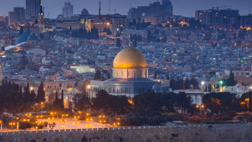 The Temple Mount in Jerusalem.