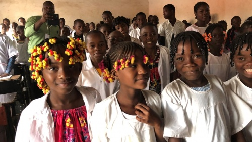 students in angola