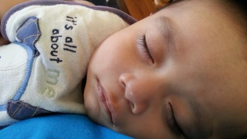 A sleeping child in Guatemala