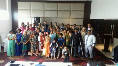 Group shot of brethren in India
