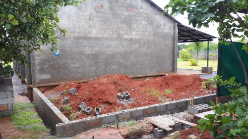 foundation for church hall extension