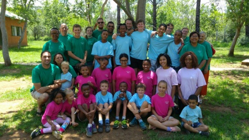 Campers and staff in South Africa