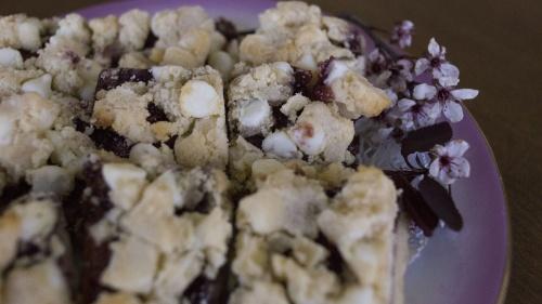 Gluten Free White Chocolate Raspberry Bars