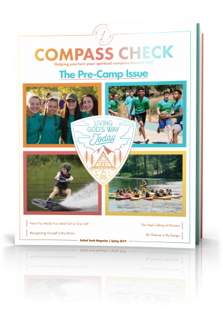 Compass Check Spring 2019 Volume 4 Issue 4, Pre-Camp Issue Tilted Cover Image