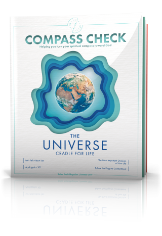 The Universe: Cradle for Life, Compass Check Summer 2019 Issue Cover