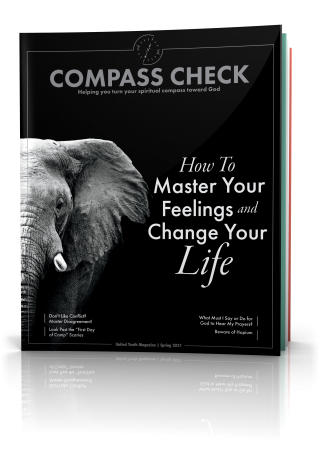 Tilted cover image of Compass Check Spring 2021 issue
