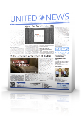 The May - June issue of United News.