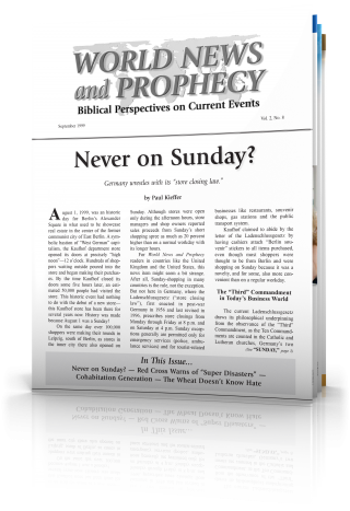 World News and Prophecy September - October 1999