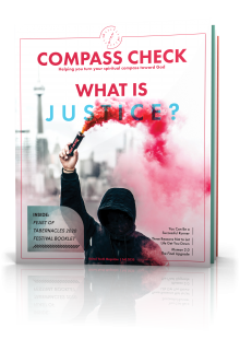 Compass Check Fall 2020 Tilted Cover Image: What Is Justice?