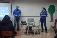 two people teaching