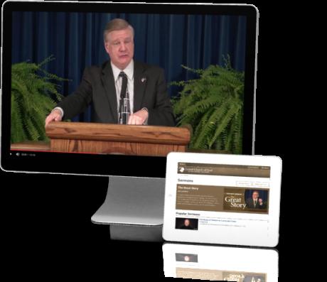 Sermons Screen and iPad