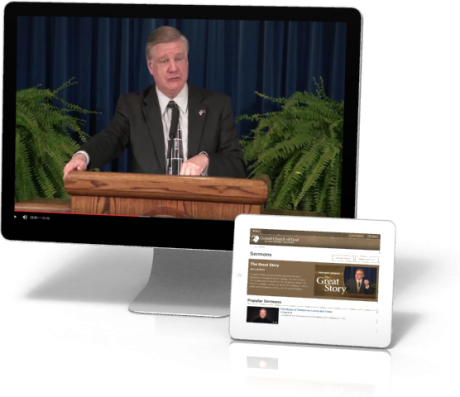 Sermons Screen and iPad