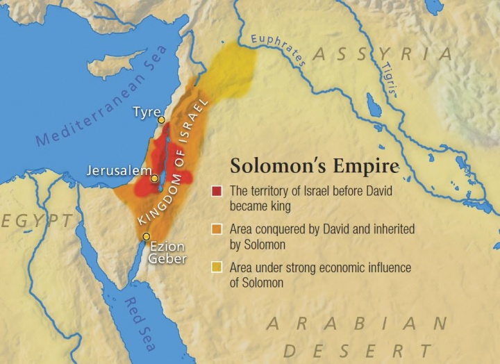 Israels golden age united church of god map showing solomons empire gumiabroncs Choice Image