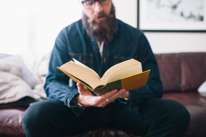 Bearded Man Reading Bible