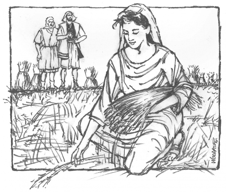 ruth gleaning coloring pages - photo#26