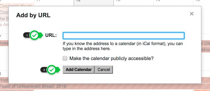 Add the url to the field. Then click Add Calendar