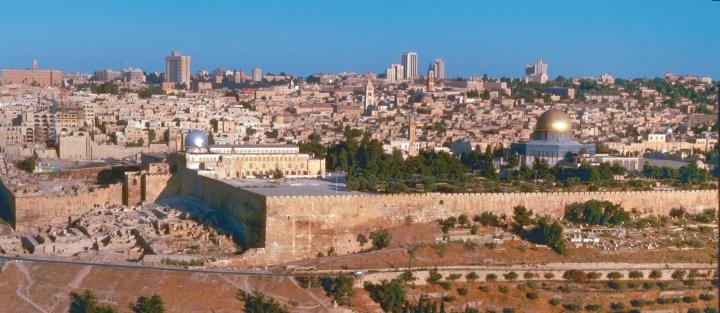 Panoramic view of Jerusalem.