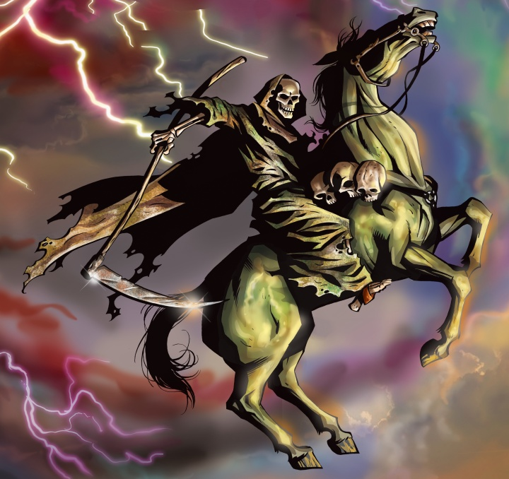 Pale horse of death described in Revelation 6.