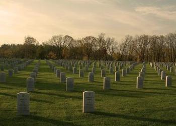 grave stones in field