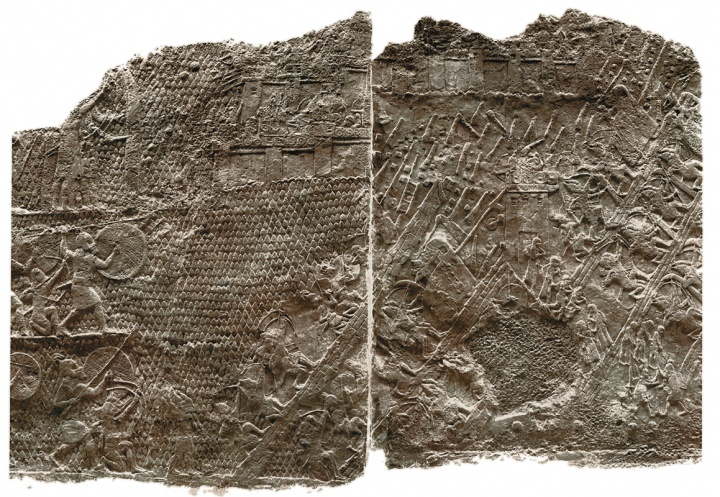 This relief from Sennacherib's palace at Nineveh shows the Assyrians' assault on the Jewish stronghold of Lachish.