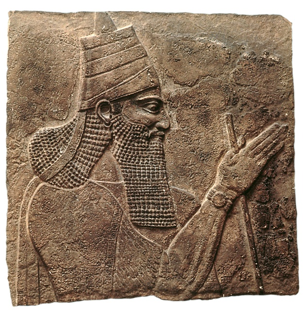 This portrait of the Assyrian monarch Tiglath-Pileser III was found in his palace at Nimrud 26 centuries after his invasion of Israel in 745 B.C.