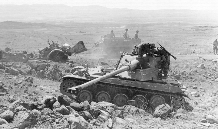 Syrian tank in the June 1967 Six-Day War.