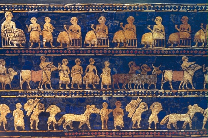 An elegant inlaid box excavated in Ur in southern Mesopotamia depict daily life in Abraham's time.
