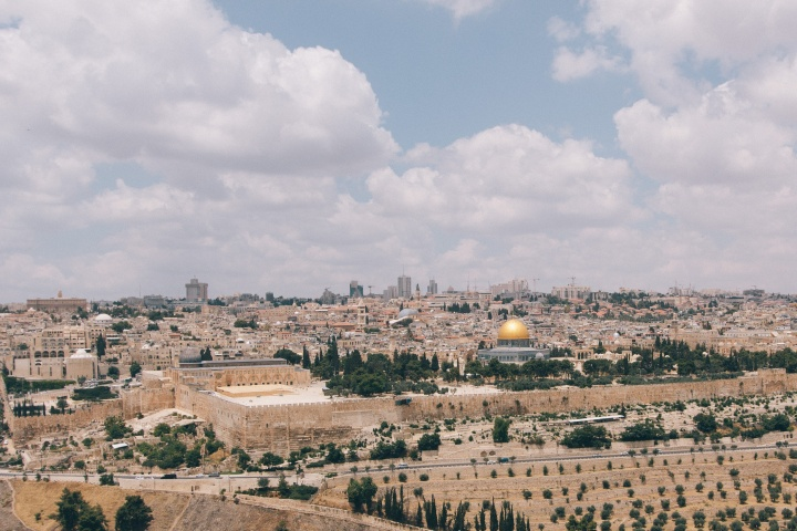 View of Jerusalem and the Dome of the Rock.