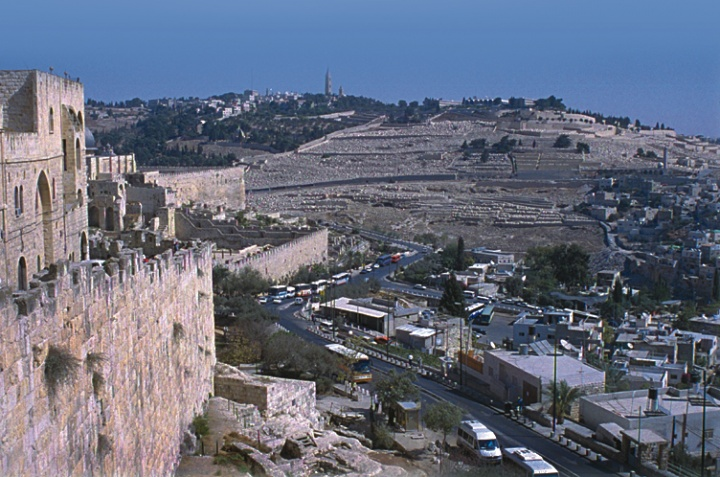 A view over Jerusalem.