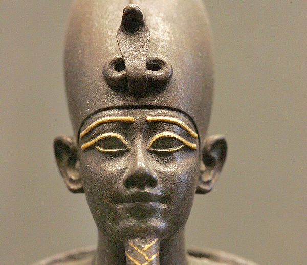 The Egyptian god Osiris statue.