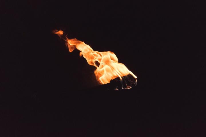 A fire torch.