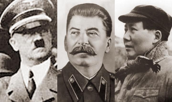 Adolf Hitler, Joseph Stalin and Mao Tse-tung