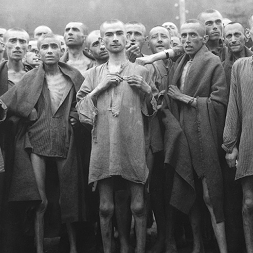 Prisoners in a concentration camp.
