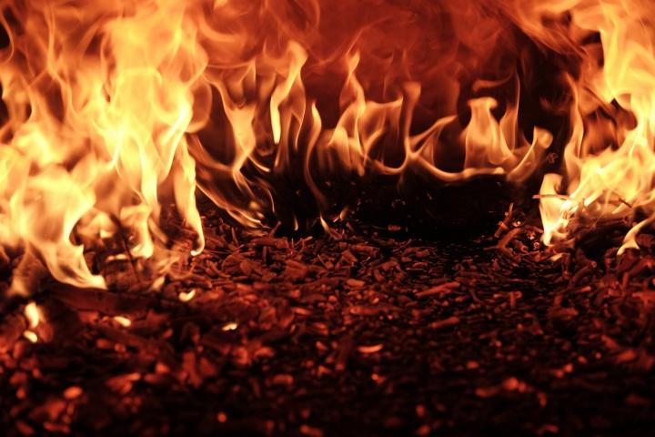 A hot fire.