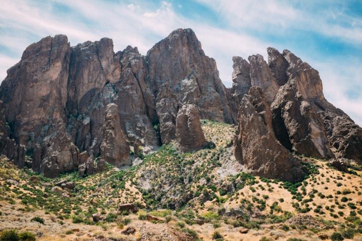 A rock pillar formation.