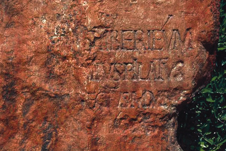 In 1961 an Italian expedition excavating Caesarea Maritima in Israel found this stone slab bearing the name of Pontius Pilate