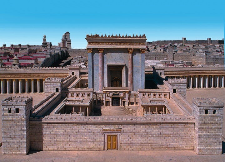 A model of the temple.