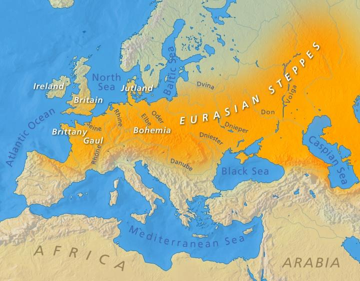 Eurasian Steppes map