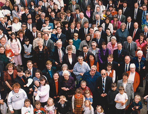 A group of church people.