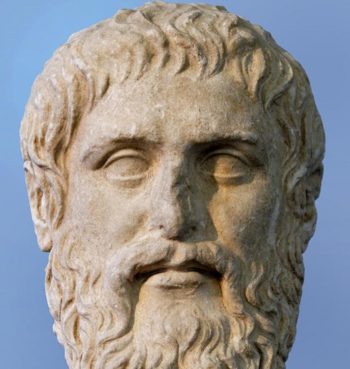 Bust of Greek philosopher Plato.