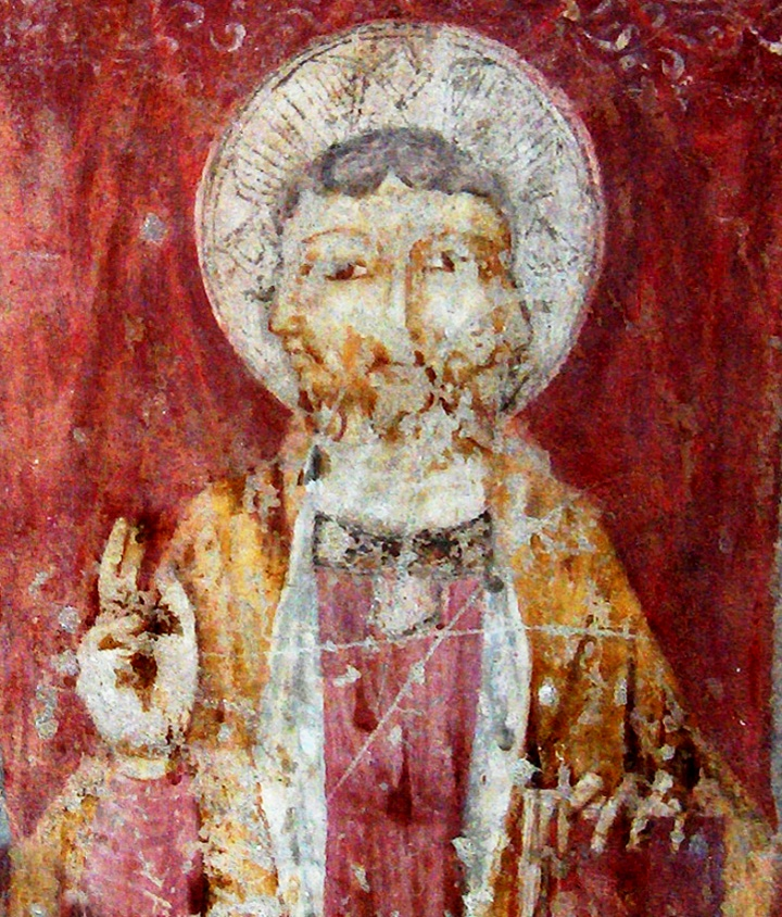 This 13th-century fresco in a church in Perugia, Italy, depicts the Trinity as a being with three faces representing Father, Son and Holy Spirit.