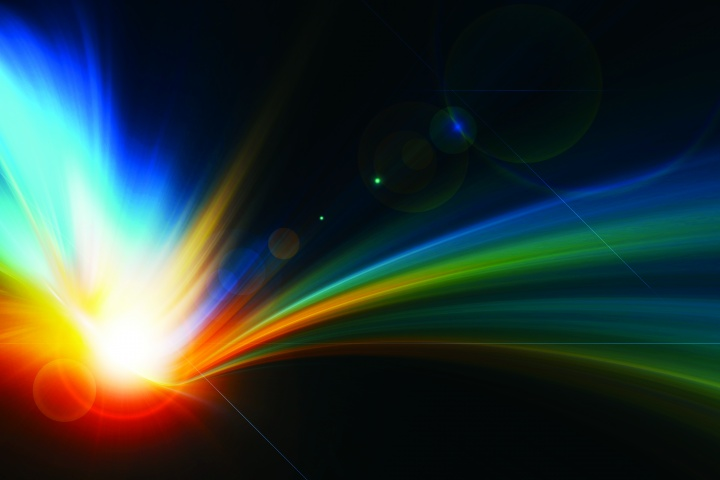Sun rays in space.