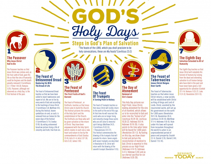 Bible infographic - God's Holy Days: Steps in God's Plan of Salvation Infographic