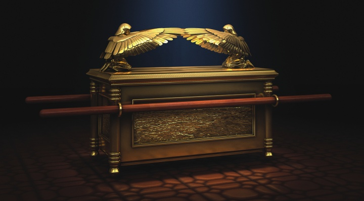 Artist rendition of the Ark of the Covenant.